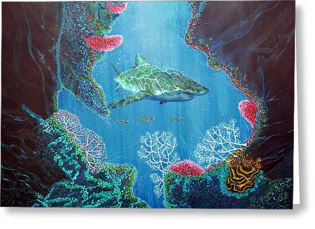 Debbie Chamberlin Greeting Cards - Oceans Away 02 Greeting Card by Debbie Chamberlin