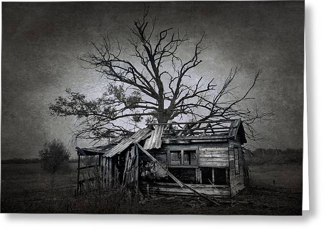 Creepy Digital Art Greeting Cards - Dead Place Greeting Card by Svetlana Sewell
