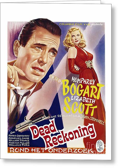 Classic Hollywood Photographs Greeting Cards - Dead Reckoning - Humphrey Bogart Greeting Card by MMG Archive Prints