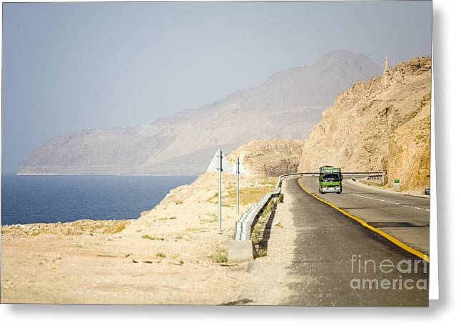 Dead Sea Greeting Cards - Dead Sea, Jordan Greeting Card by Adam Sylvester