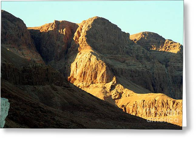 Extremist Greeting Cards - Dead Sea Mountains - Masada  Greeting Card by Michael Braham