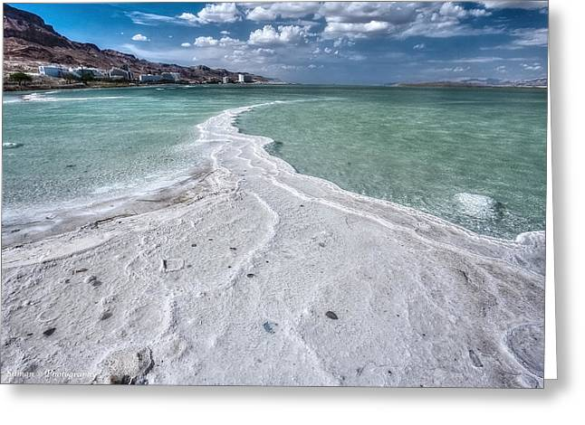Isaac Silman Greeting Cards - Dead sea salty trail Greeting Card by Isaac Silman