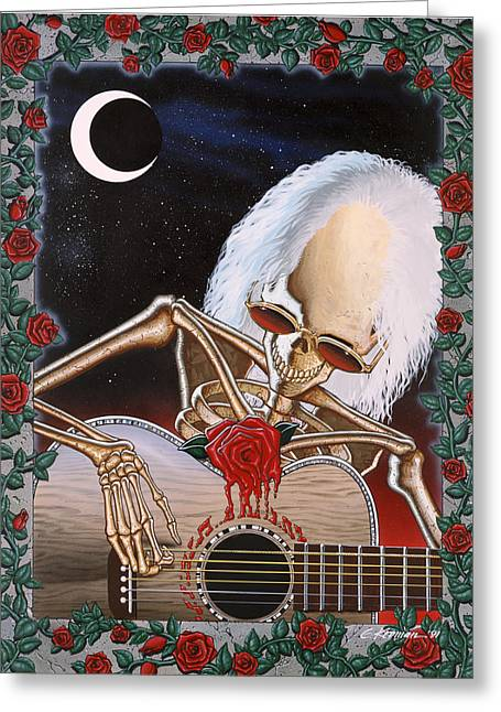 Rock And Roll Paintings Greeting Cards - Dead Serenade Greeting Card by Gary Kroman