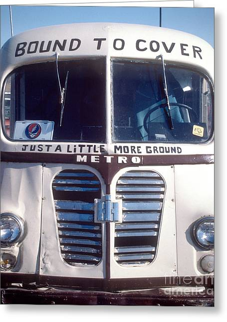 Cover The Face Greeting Cards - Dead Tour Bus Greeting Card by Chuck Spang