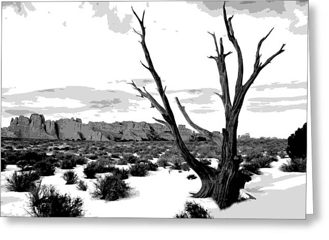 Jack Mcaward Greeting Cards - Dead Tree in Winter Greeting Card by Jack McAward