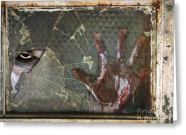 Ghost Hand Greeting Cards - Dead Window Greeting Card by Jt PhotoDesign
