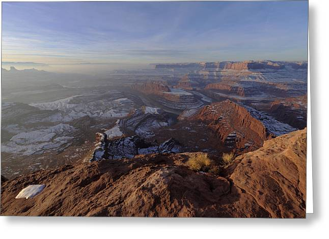 State Park Canyon Greeting Cards - Deadhorse Point Greeting Card by Chad Dutson