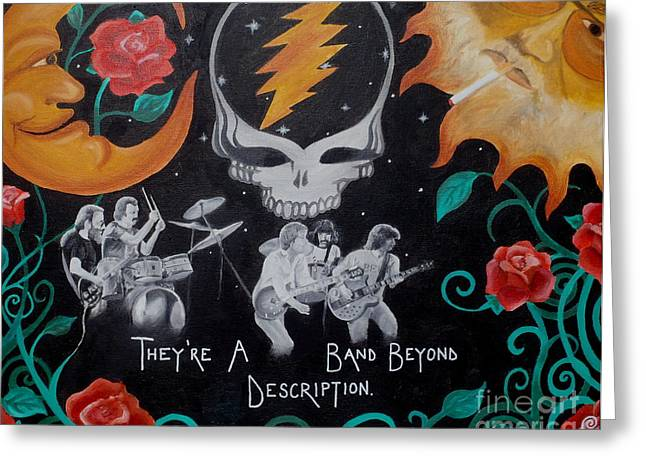 Jerry Garcia Band Greeting Cards - Deadication. Greeting Card by Jen Santa