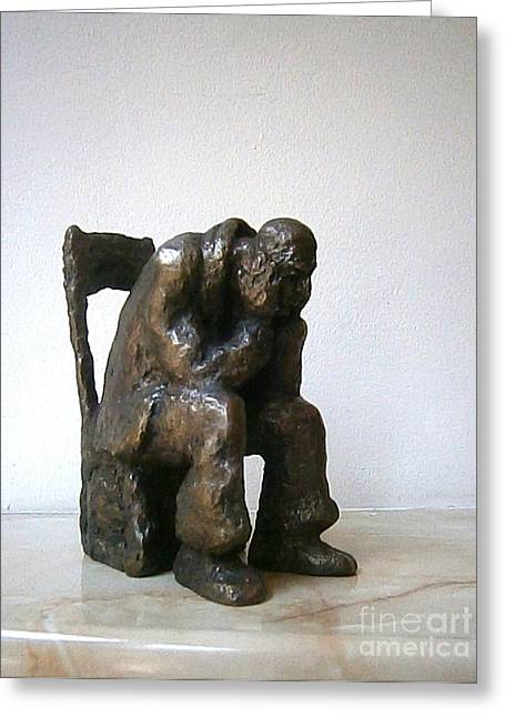 Anxiety Sculptures Greeting Cards - Deadlock Greeting Card by Nikola Litchkov