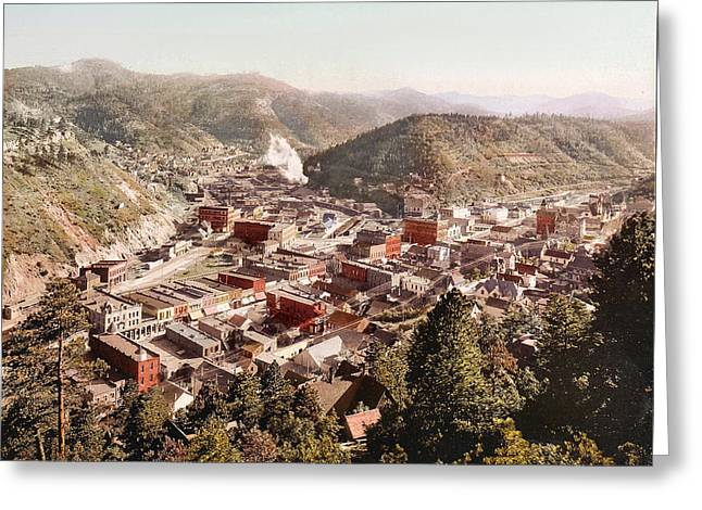 Deadwood Greeting Cards - Deadwood South Dakota 1897 Greeting Card by Unknown