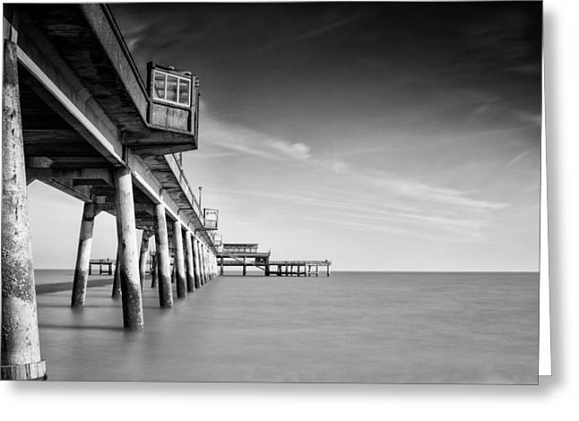 Fishing Pier Greeting Cards - Deal pier Greeting Card by Ian Hufton