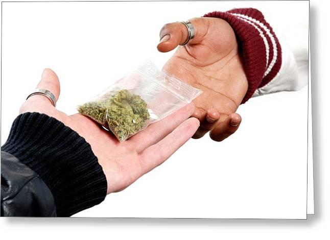 Dealing In Cannabis Greeting Card by Aj Photo