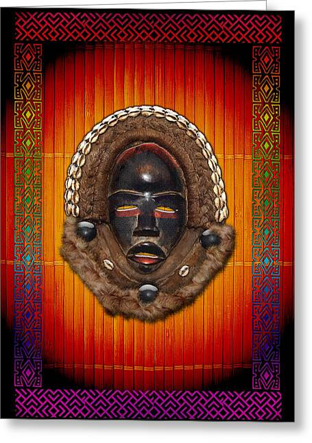 African Heritage Greeting Cards - Dean Gle Mask by Dan People of the Ivory Coast and Liberia  Greeting Card by Serge Averbukh