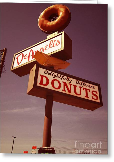 Food Digital Greeting Cards - DeAngelis Donuts Greeting Card by Jim Zahniser
