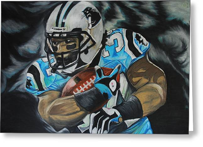 Football Pastels Greeting Cards - Deangelo WIlliams Greeting Card by Ryan Doray