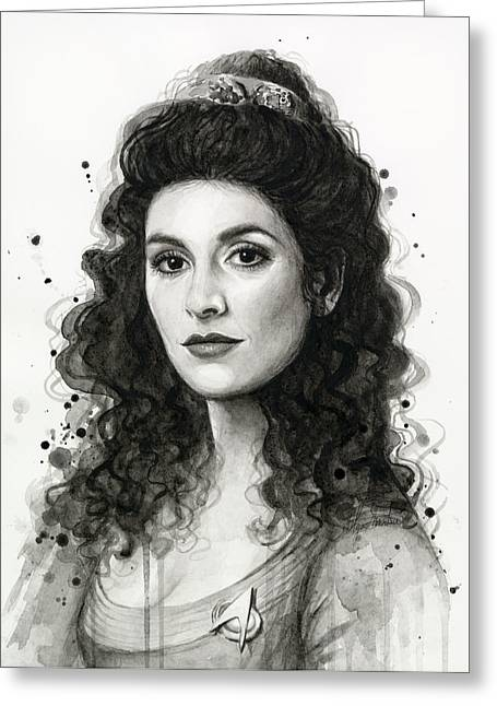 Tng Greeting Cards - Deanna Troi - Star Trek Fan Art Greeting Card by Olga Shvartsur