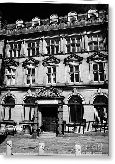 Centre Court Greeting Cards - deans court chambers building former head post office Preston England UK Greeting Card by Joe Fox