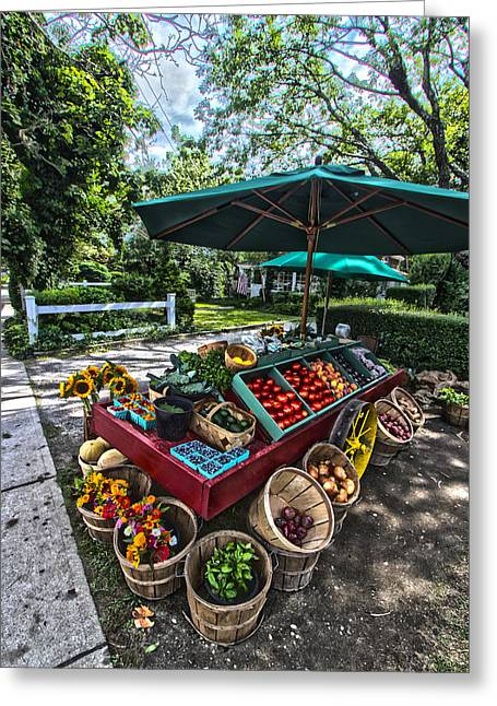 Dean's Farmstand Greeting Card by Robert Seifert