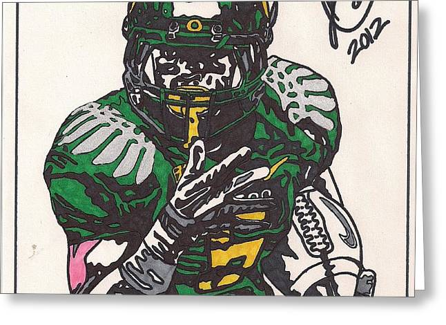 De'Anthony Thomas Greeting Card by Jeremiah Colley