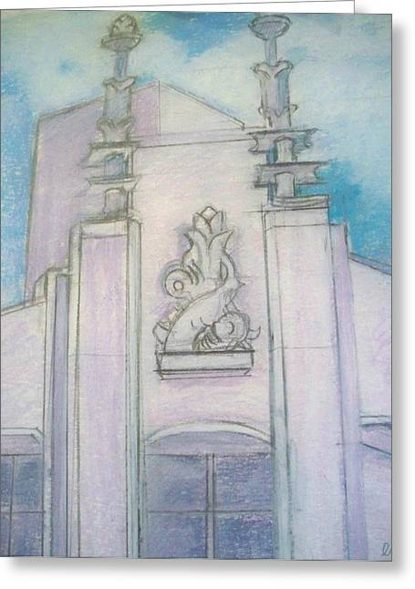 Miami Pastels Greeting Cards - Dear Abbey Greeting Card by Elaine Marie