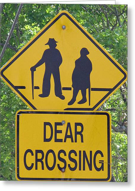 Best Sellers -  - Crosswalk Greeting Cards - Dear Crossing Greeting Card by Barbara McDevitt