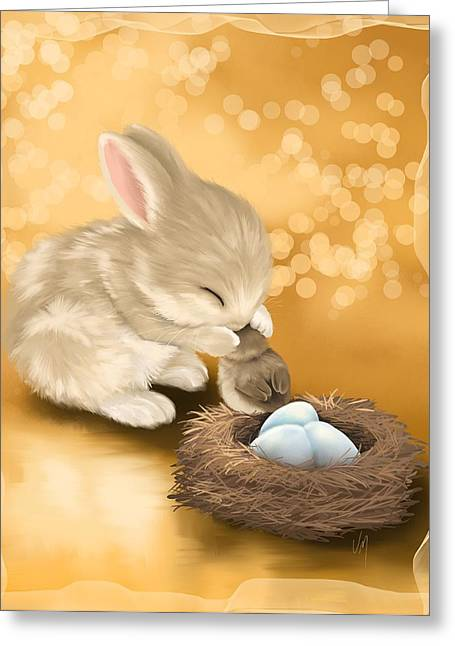 Easter Card Greeting Cards - Dear friend Greeting Card by Veronica Minozzi