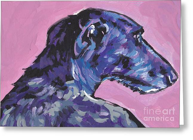 Scottish Paintings Greeting Cards - Dear Hound Greeting Card by Lea