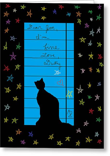 Written In The Stars Greeting Cards - Dear Joe Love Dusty Greeting Card by Anita Dale Livaditis