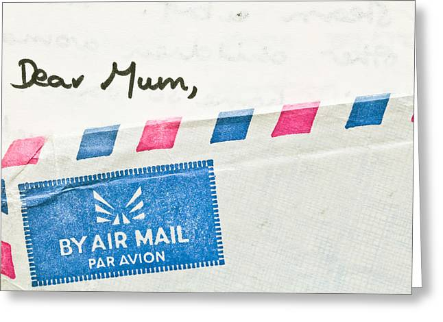 Envelop Greeting Cards - Dear Mum Greeting Card by Tom Gowanlock
