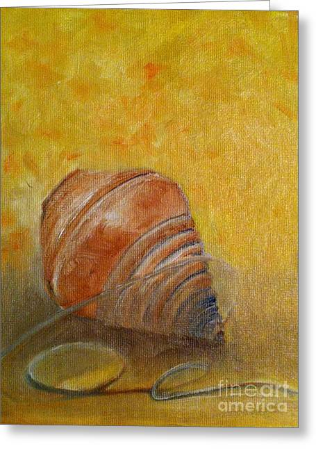 Spinning Top Paintings Greeting Cards - Dear old spinning top Greeting Card by B Russo