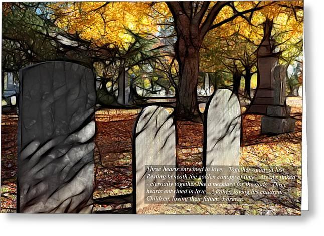 Dan Carmichael Digital Art Greeting Cards - Dearest Father - Loving Children II Greeting Card by Dan Carmichael