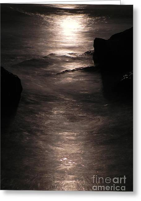 Moon Beach Greeting Cards - Death at Sea 1 Greeting Card by Jesse Hanson