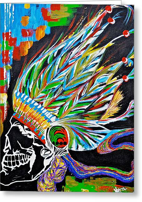 Best Sellers -  - Original Art Photographs Greeting Cards - Death Chief.  Greeting Card by Keith Harkin