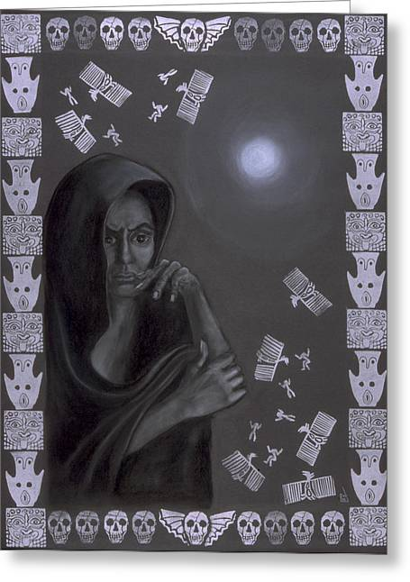 Goddess Birth Art Greeting Cards - Death Crone Greeting Card by Diana Perfect