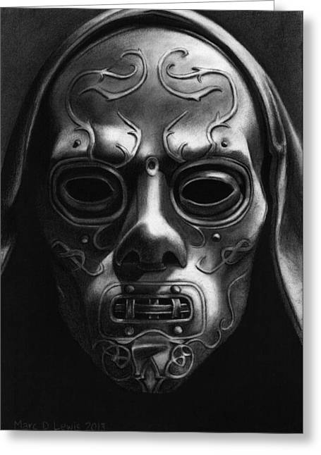 Death Eater Mask Greeting Card by Marc D Lewis