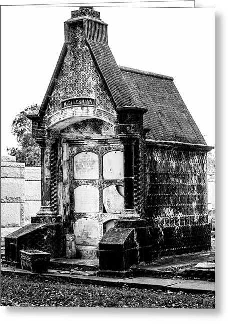 Cemetery Greeting Cards - Death house - New Orleans cemetery Greeting Card by Andy Crawford