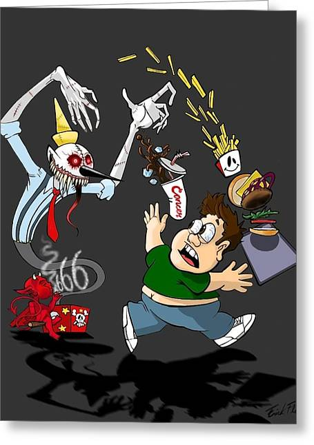 Jack-in-the-box Greeting Cards - Death in a Box Greeting Card by Erick Flare