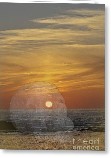 Death Of A Day Greeting Card by Terri Waters
