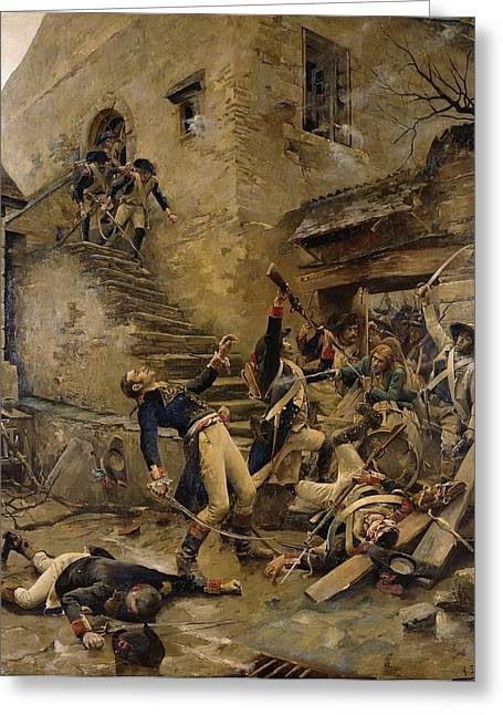 Troops Photographs Greeting Cards - Death Of General Beaupuy, 1888 Oil On Canvas Greeting Card by Alexandre Bloch