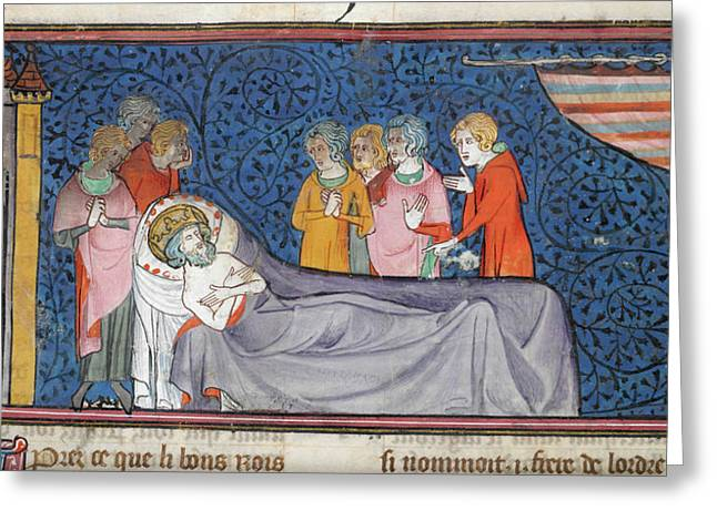 Death Of King Louis Ix Greeting Card by British Library