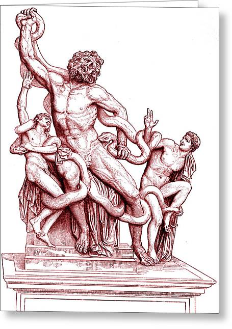 Death Of Laocoon Greeting Card by Collection Abecasis