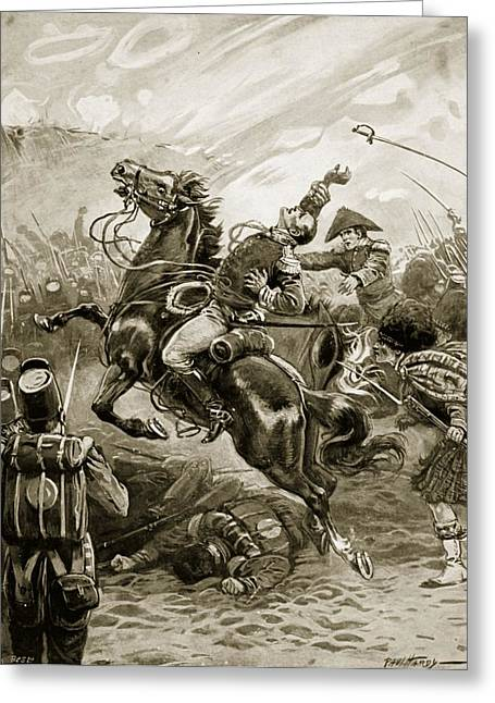 Major General Greeting Cards - Death Of Sir Edward Pakenham Greeting Card by Paul Hardy