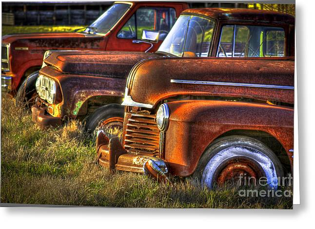 Chevrolet Pickup Truck Greeting Cards - Death Row Sunset Greeting Card by Reid Callaway