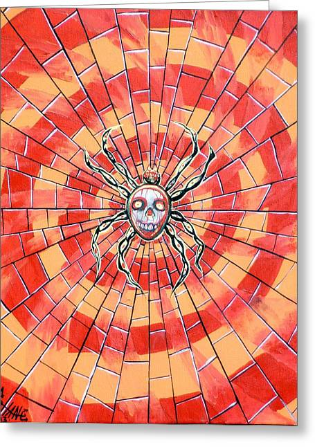 Artgrinder Greeting Cards - Death Spider Greeting Card by Sam Hane