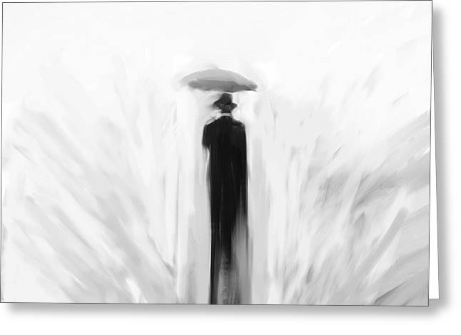 Grim Reaper Greeting Cards - Death takes a holiday Greeting Card by H James Hoff
