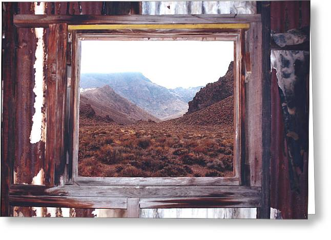 Abandoned School House. Greeting Cards - Death Valley 1 Greeting Card by Lydia Warner Miller