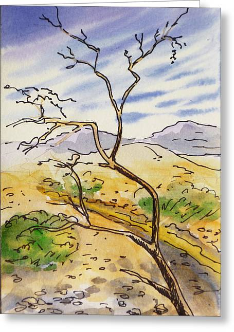 Death Valley- California Sketchbook Project Greeting Card by Irina Sztukowski