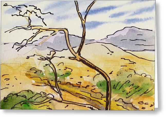 Death Valley- California Sketchbook Project Greeting Card by Irina Sztukowski