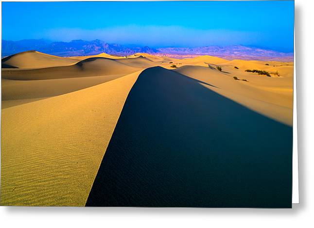 Sand Dunes Pyrography Greeting Cards - Death Valley Dunes Greeting Card by John Ferebee