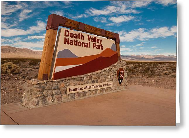 Death Valley National Park Greeting Cards - Death Valley Entry Greeting Card by Steve Gadomski